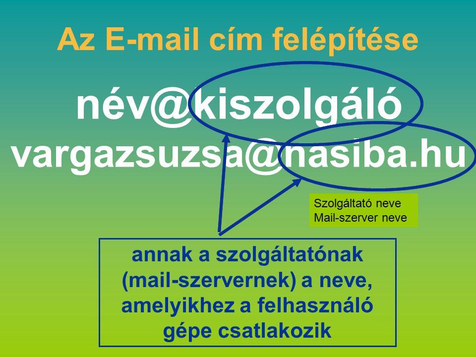 vzs@t-online.hu dr.farkasne@chello.hu szakiskola.ujvaros@chello.hu zsoofee@citromail.hu venal@freemail.hu Az E-mail cím felépítése Hungary – magyarországi e-mail cím