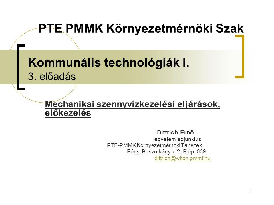 1 Kommunális technológiák I. 3.