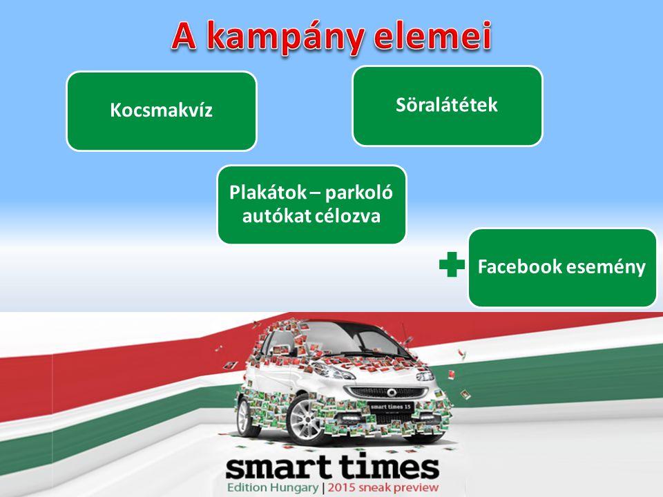 KocsmakvízSöralátétekFacebook esemény Plakátok – parkoló autókat célozva