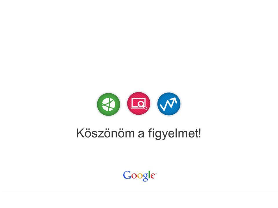 Google Confidential and Proprietary Köszönöm a figyelmet!