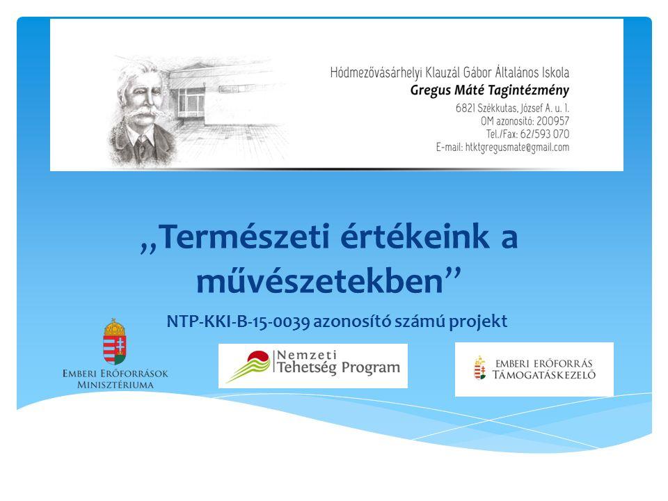 """""""Természeti értékeink a művészetekben NTP-KKI-B-15-0039 azonosító számú projekt"""