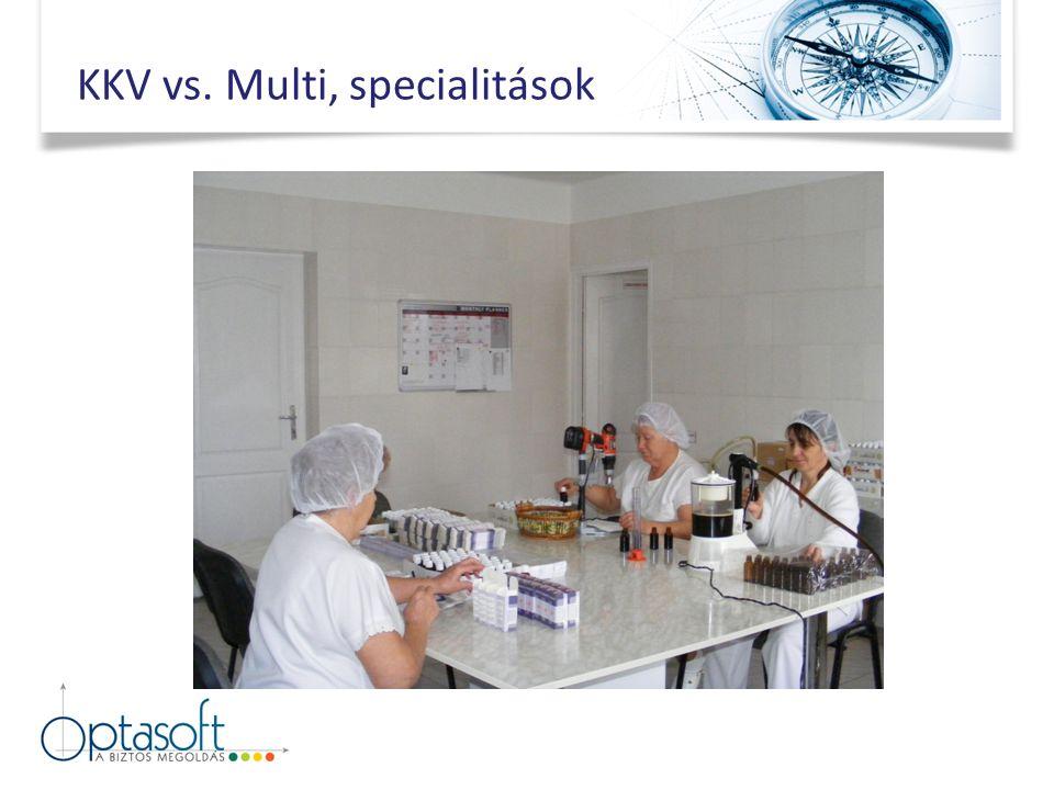 KKV vs. Multi, specialitások