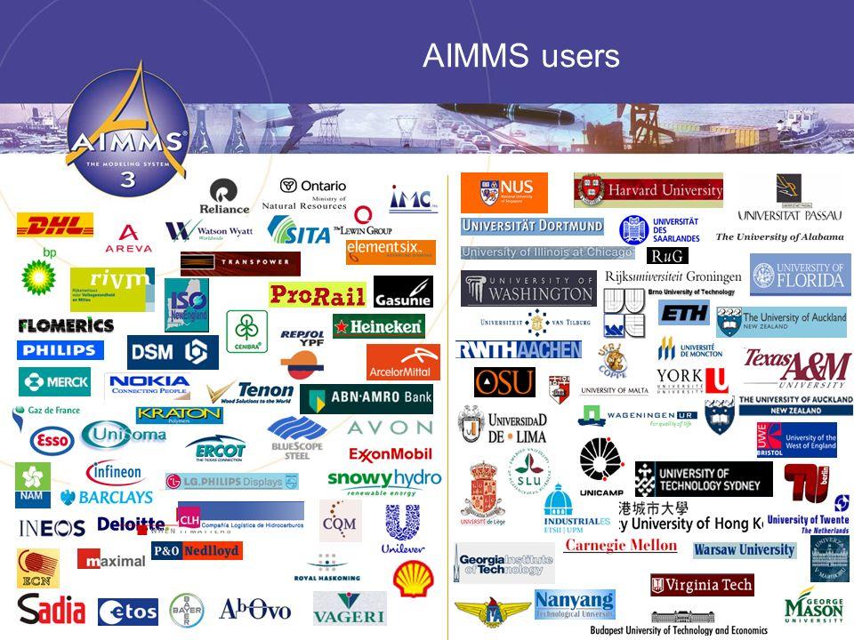 6 AIMMS users