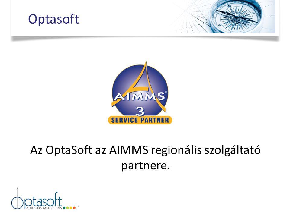 Az OptaSoft az AIMMS regionális szolgáltató partnere. Optasoft