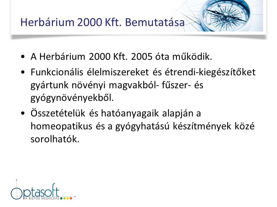 Herbárium 2000 Kft. Bemutatása A Herbárium 2000 Kft.