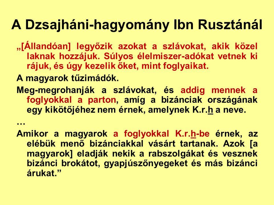 """Orosz őskrónika """"Majd azután fehér ugrok jöttek, és örökölték a slovének földjét."""