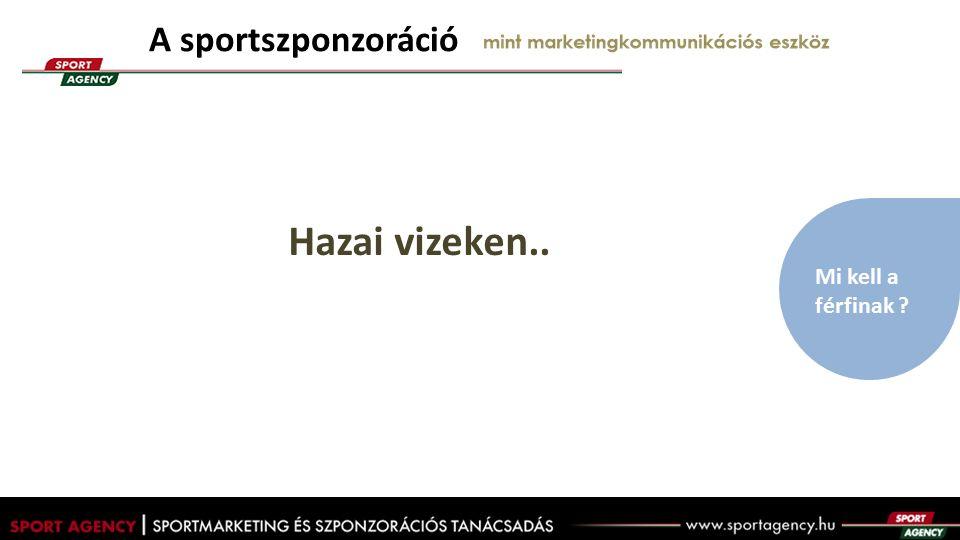 Hazai vizeken.. A sportszponzoráció mint marketingkommunikációs eszköz Mi kell a férfinak ?