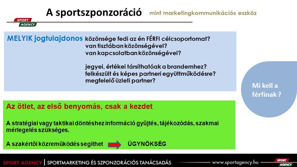 A sportszponzoráció mint marketingkommunikációs eszköz Mi kell a férfinak .