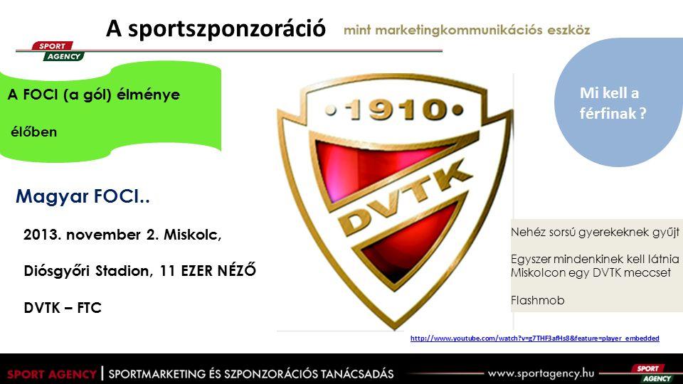 A sportszponzoráció mint marketingkommunikációs eszköz Magyar FOCI..