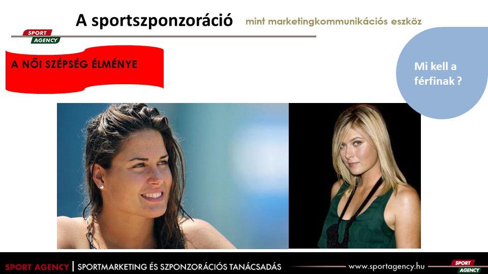 A sportszponzoráció mint marketingkommunikációs eszköz A NŐI SZÉPSÉG ÉLMÉNYE Mi kell a férfinak ?