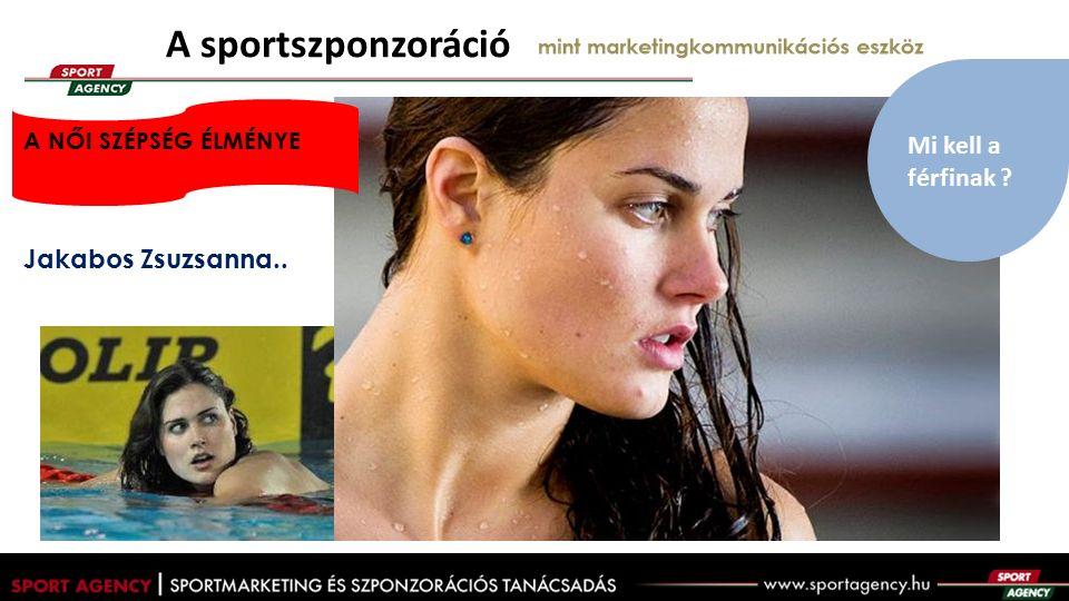 A sportszponzoráció mint marketingkommunikációs eszköz Jakabos Zsuzsanna..