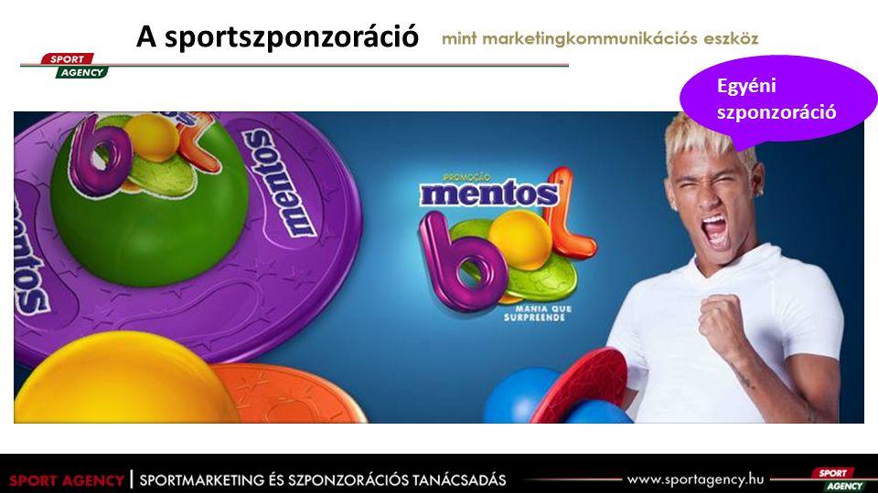 """A sportszponzoráció mint marketingkommunikációs eszköz A BRAND legfőbb céljai a sportszponzorációval:  a tömegek ( """"a FÉRFI ) elérése  a márka iránti bizalom építése  párbeszéd a fogyasztóval  a márkaértéek összekapcsolása A BRAND A FÉRFIAK, a jogtulajdonos közvetlenül és a médián keresztül elért KÖZÖNSÉGE A JOGTULAJDONOS"""
