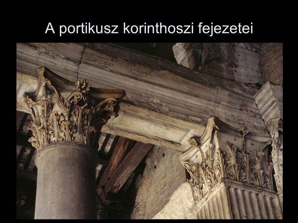 A portikusz korinthoszi fejezetei