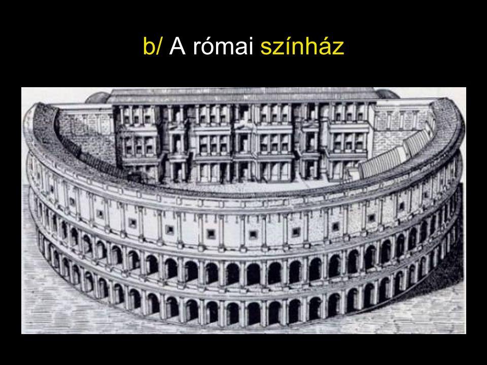 b/ A római színház