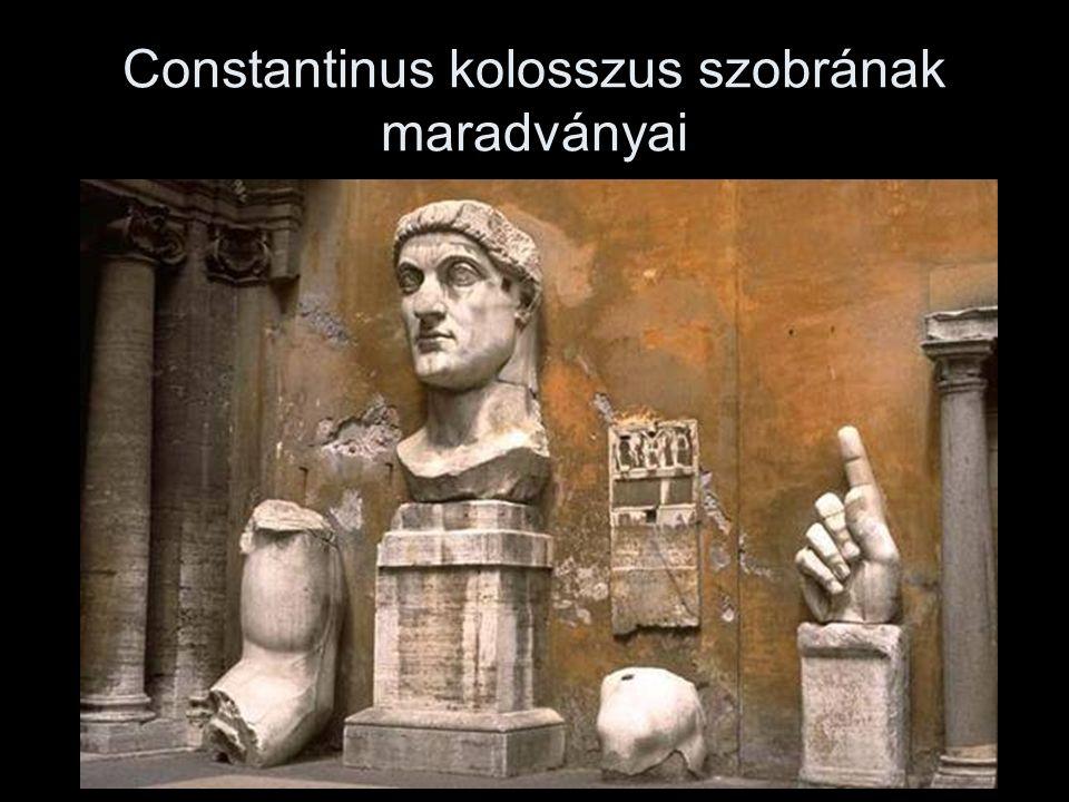 Constantinus kolosszus szobrának maradványai