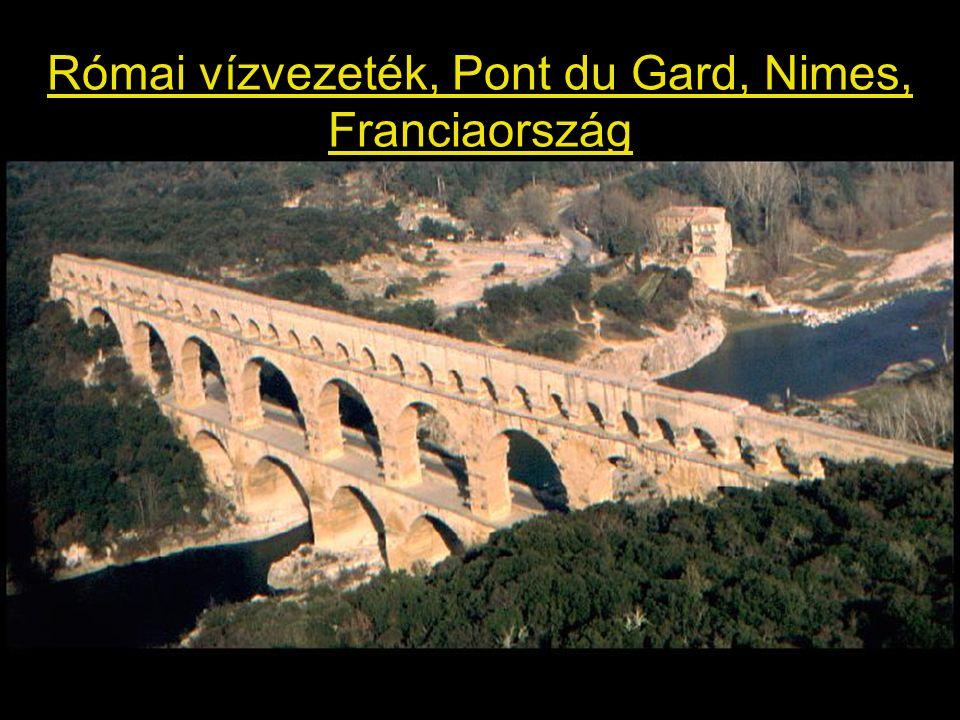 Római vízvezeték, Pont du Gard, Nimes, Franciaország
