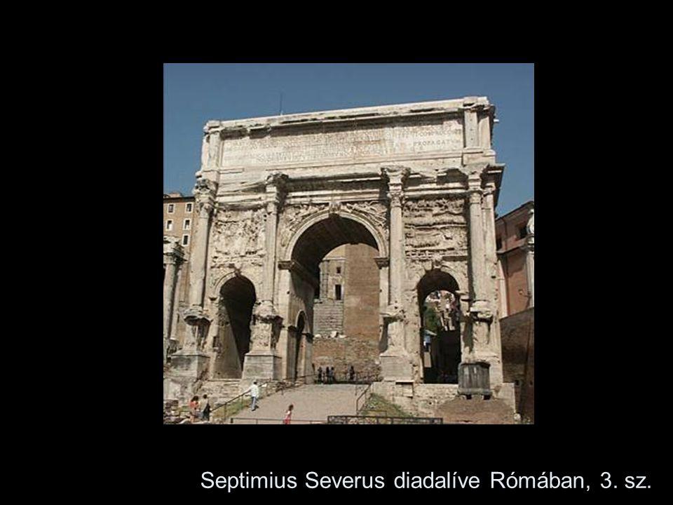 Septimius Severus diadalíve Rómában, 3. sz.