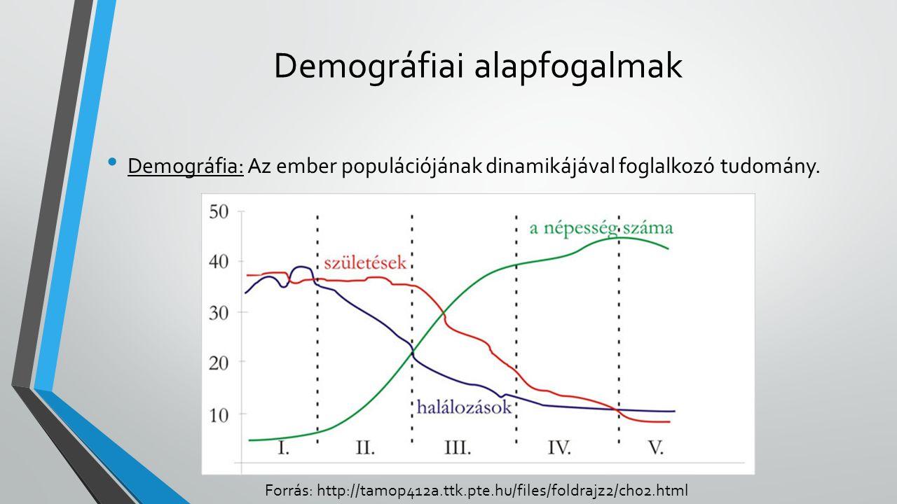 Demográfiai alapfogalmak Demográfia: Az ember populációjának dinamikájával foglalkozó tudomány.