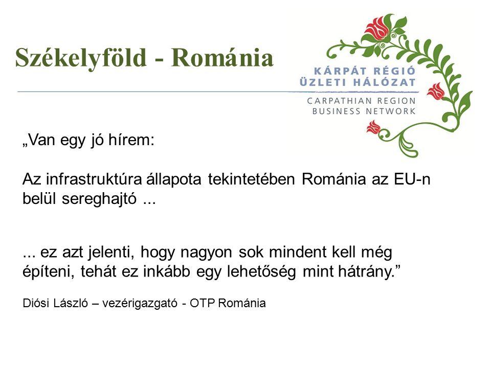 """... ez azt jelenti, hogy nagyon sok mindent kell még építeni, tehát ez inkább egy lehetőség mint hátrány."""" Diósi László – vezérigazgató - OTP Románia"""