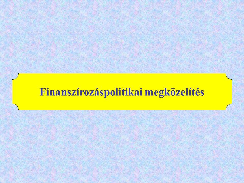 Finanszírozáspolitikai megközelítés