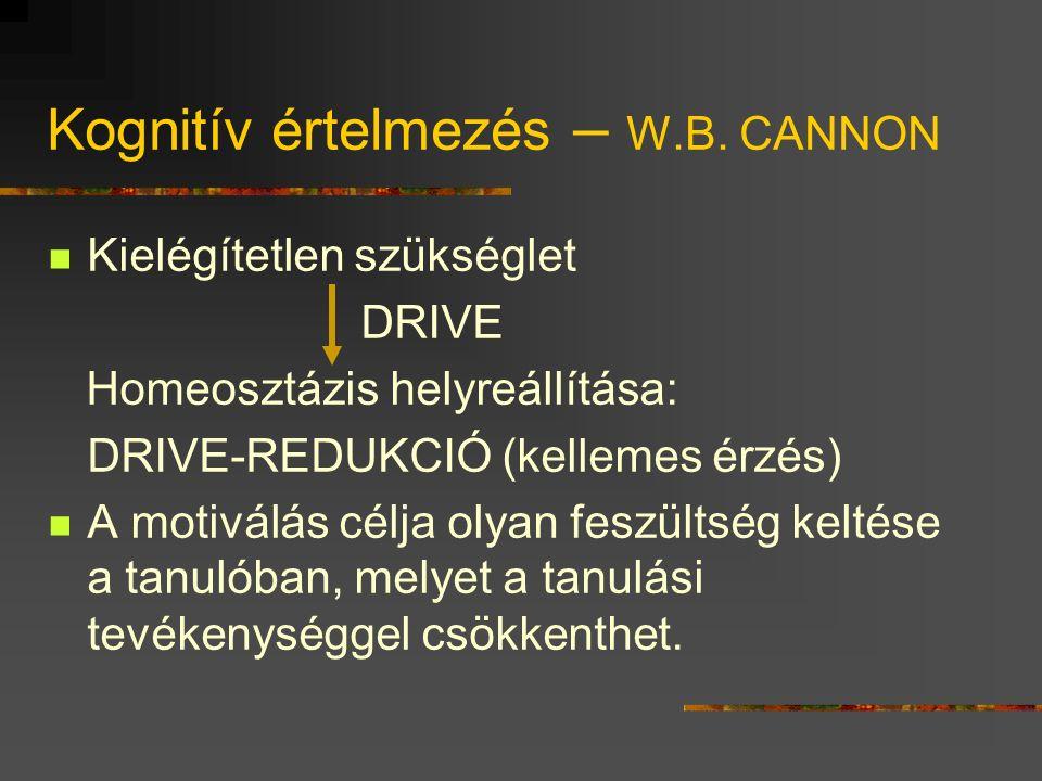 Kognitív értelmezés – W.B.