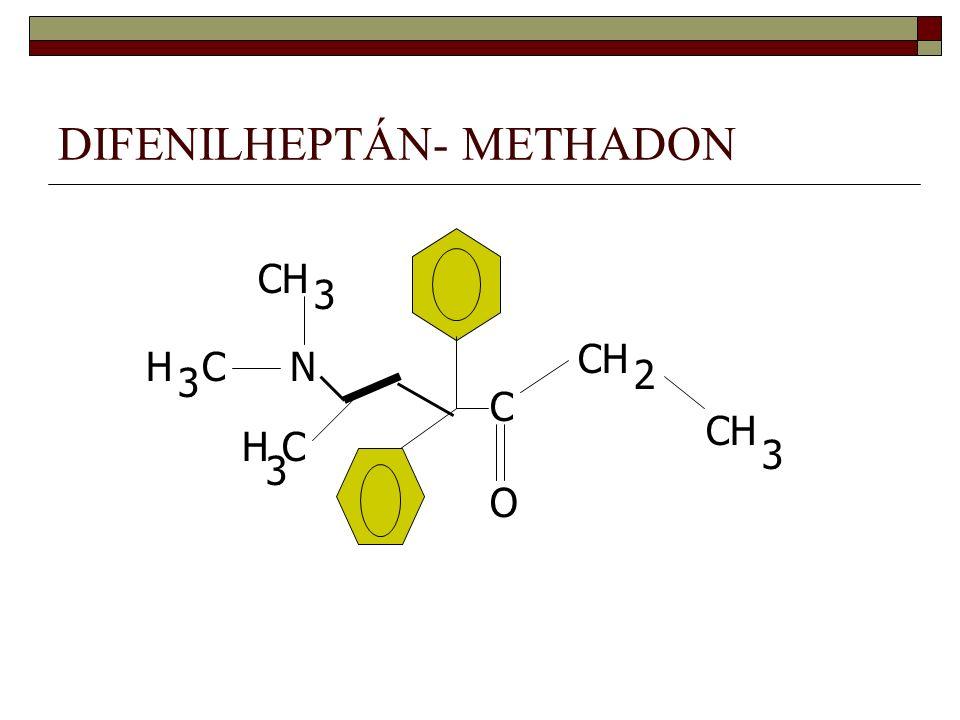 DIFENILHEPTÁN- METHADON C O CH 2 3 N H 3 C C 3 H 3