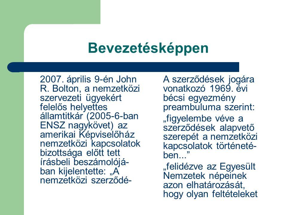 A szerződéskötés folyamata (2) Kötelező és opcionális elemek.