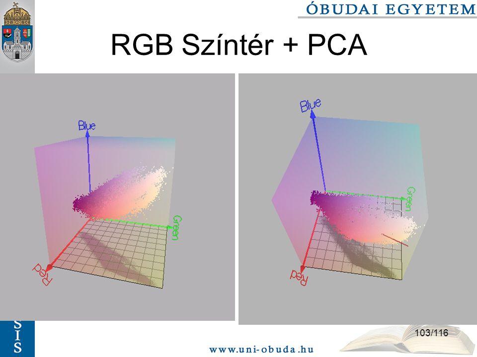 103/116 RGB Színtér + PCA