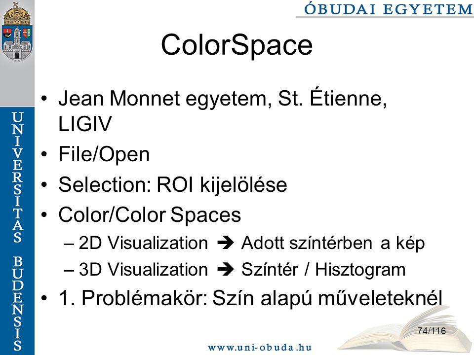 74/116 ColorSpace Jean Monnet egyetem, St.