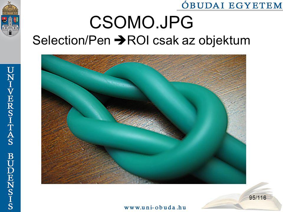 95/116 CSOMO.JPG Selection/Pen  ROI csak az objektum