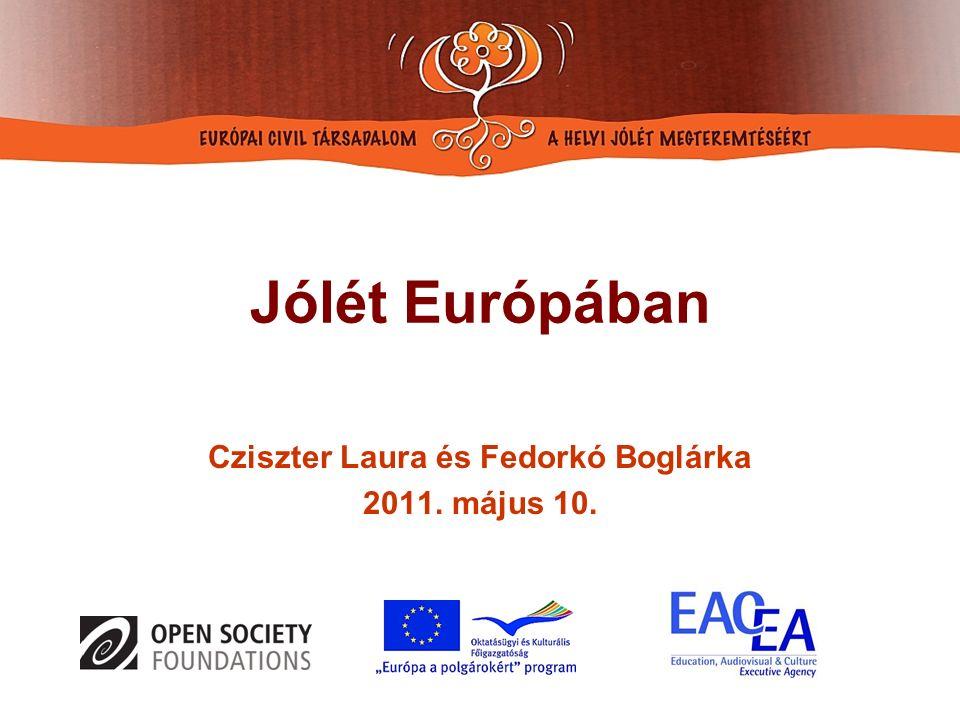 Jólét Európában Cziszter Laura és Fedorkó Boglárka 2011. május 10.