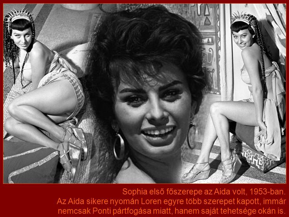 Javaslatára a lány felvette a Sophia Loren nevet, addigi keresztneve Sofia volt, de Ponti szerint a Sophia elegánsabb. A Loren egy svéd színésznő, Mar