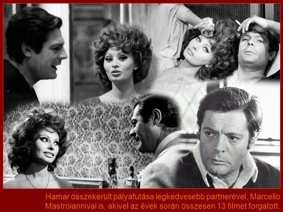 Sophia első főszerepe az Aida volt, 1953-ban.