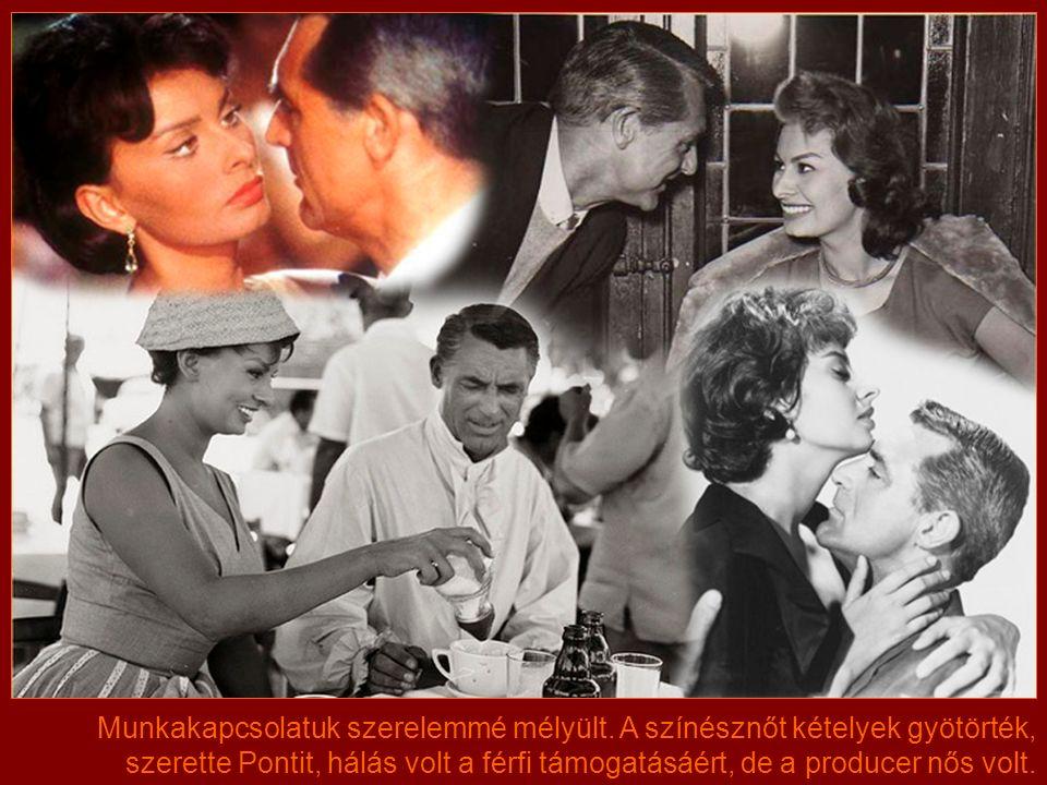 Sophia 1957-ben ismerkedett meg Cary Granttel. Loren már fiatal lányként rajongott a híres amerikai sztárért, aki gálánsan felajánlotta, hogy segít So