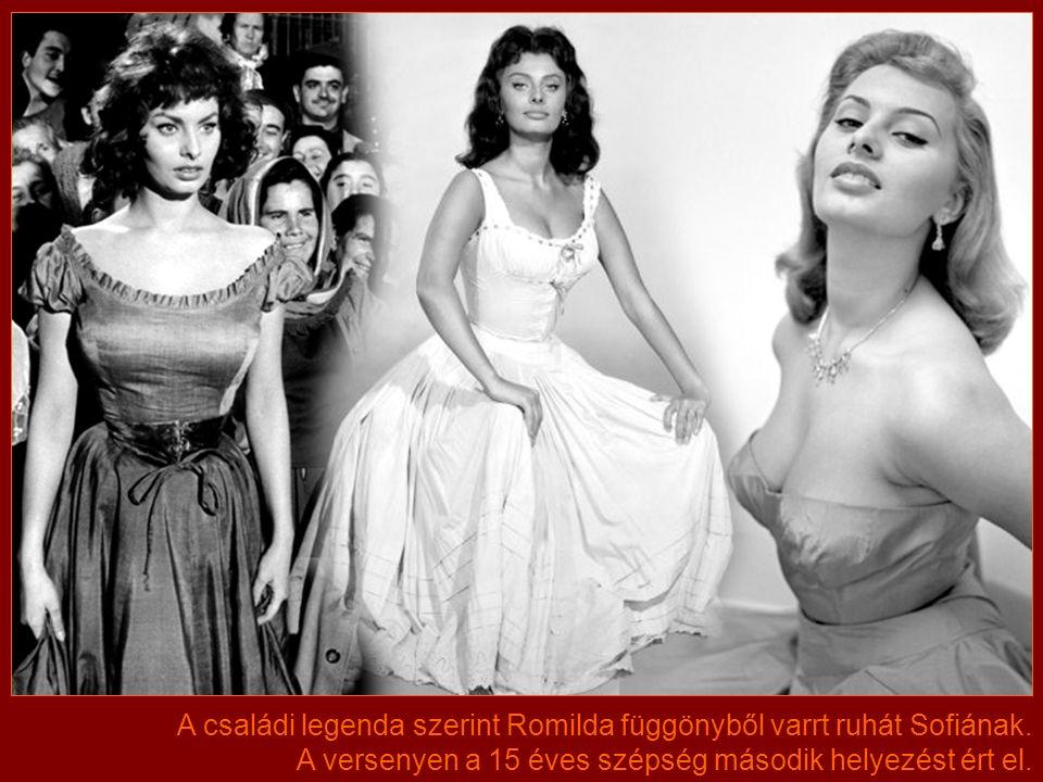 A háború befejezése után Sofia gyönyörű lánnyá serdült. Az anya benevezte a közeli Nápoly egyik szépségversenyére.