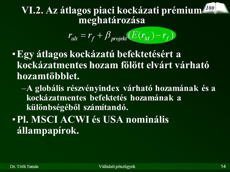Dr. Tóth TamásVállalati pénzügyek14 VI.2.