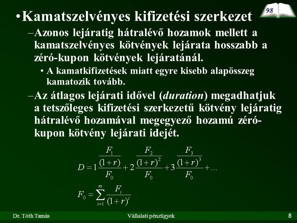 Dr.Tóth TamásVállalati pénzügyek19 VI.3.