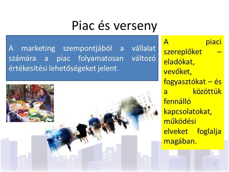 A piaci szereplőket – eladókat, vevőket, fogyasztókat – és a közöttük fennálló kapcsolatokat, működési elveket foglalja magában.