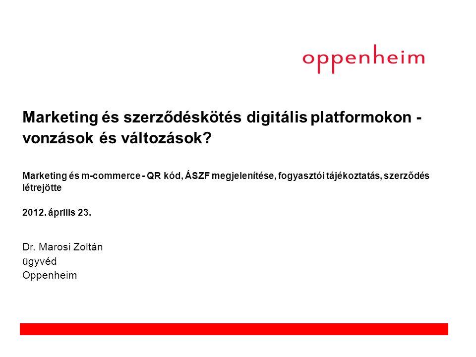 Marketing és szerződéskötés digitális platformokon - vonzások és változások.