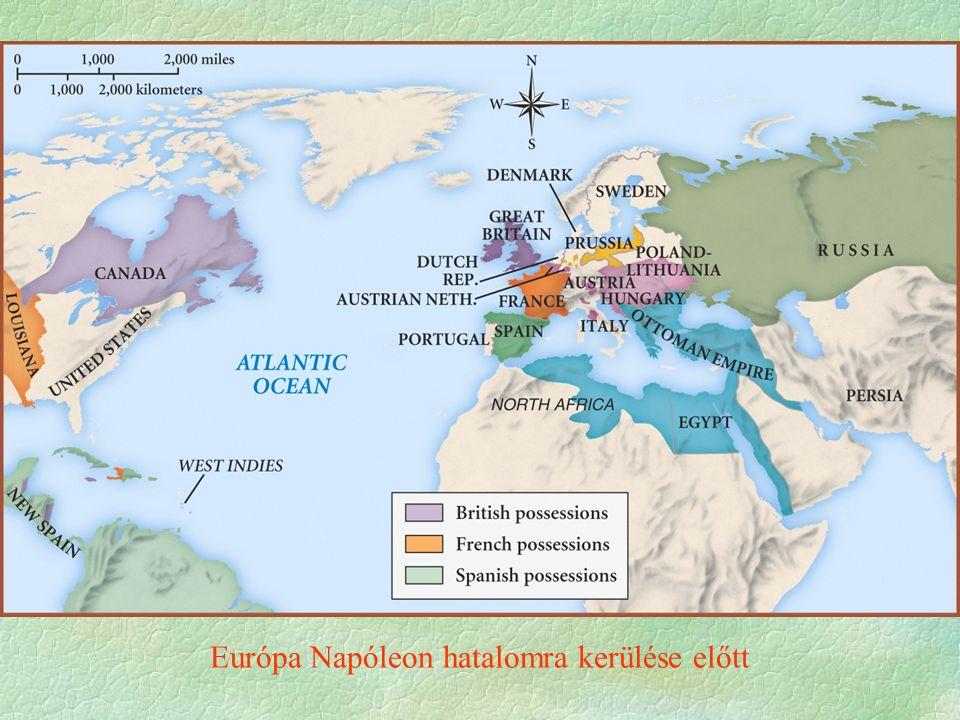 """ 1804 Notre Dame császárrá koronázás  kiveszi pápa kezéből a koronát, mint Nagy Károly  nyílt, rendeleti kormányzás  császári pompa  valódi uralkodó benyomása  Békés évek  segíti a francia gazdaság fellendülését  Napóleon újabb hódításokba kezd     A rendszer igazolása a """"gloire ébren tartása (nemzeti)  Az újabb hódítások  Anglia megtörése a cél  Európai és gyarmati hegemónia a tét Napóleon, a császár"""