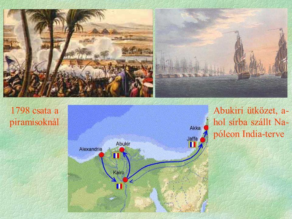 Abukiri ütközet, a- hol sírba szállt Na- póleon India-terve 1798 csata a piramisoknál