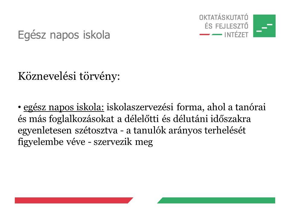 Az egész napos iskola működése II.20/2012. (VIII.