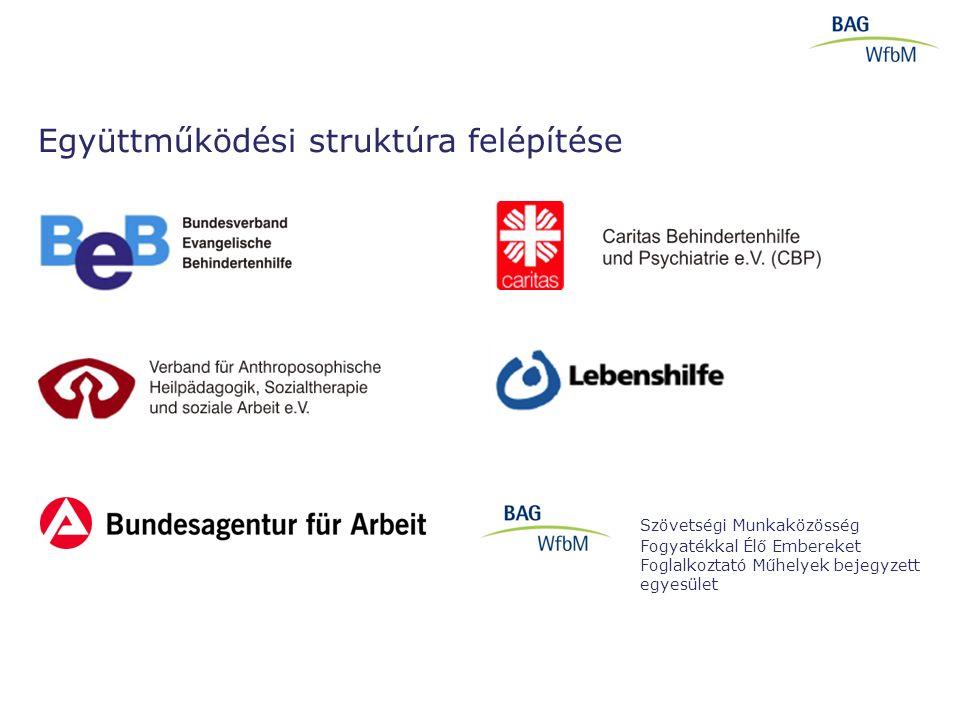 Együttműködési struktúra felépítése Szövetségi Munkaközösség Fogyatékkal Élő Embereket Foglalkoztató Műhelyek bejegyzett egyesület