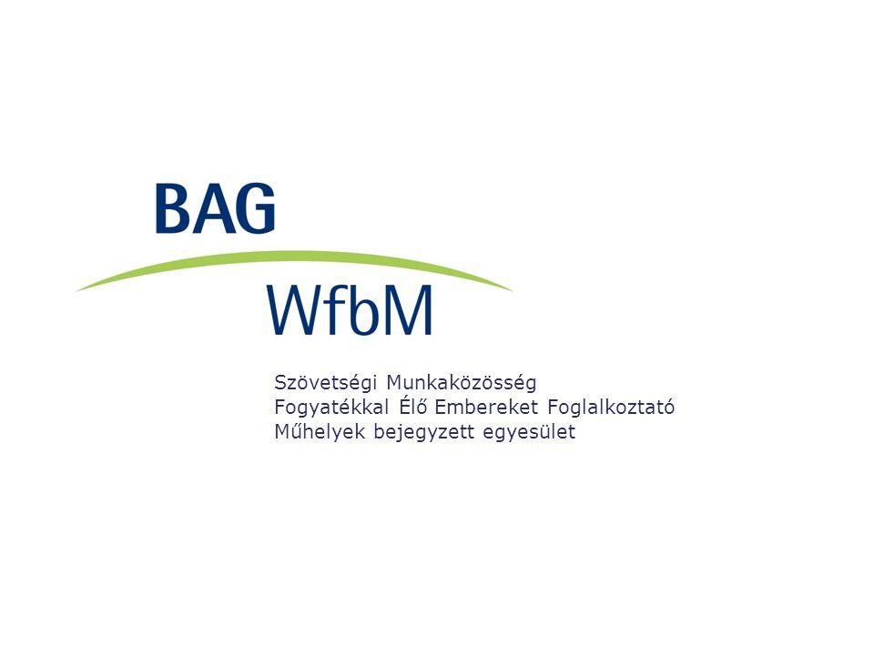 Szövetségi Munkaközösség Fogyatékkal Élő Embereket Foglalkoztató Műhelyek bejegyzett egyesület