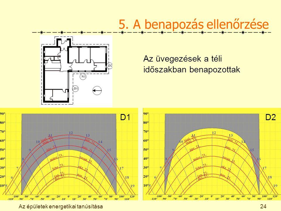 Az épületek energetikai tanúsítása24 5.