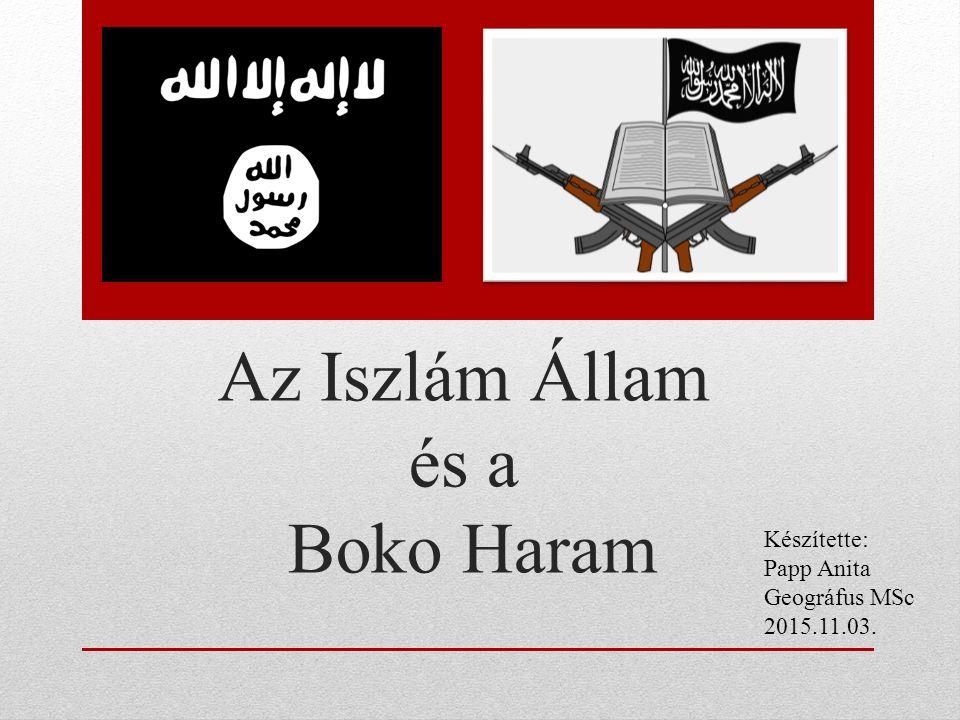Az Iszlám Állam és a Boko Haram Készítette: Papp Anita Geográfus MSc 2015.11.03.