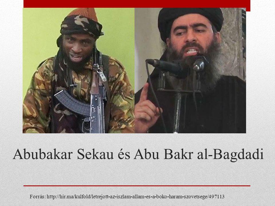 Abubakar Sekau és Abu Bakr al-Bagdadi Forrás: http://hir.ma/kulfold/letrejott-az-iszlam-allam-es-a-boko-haram-szovetsege/497113