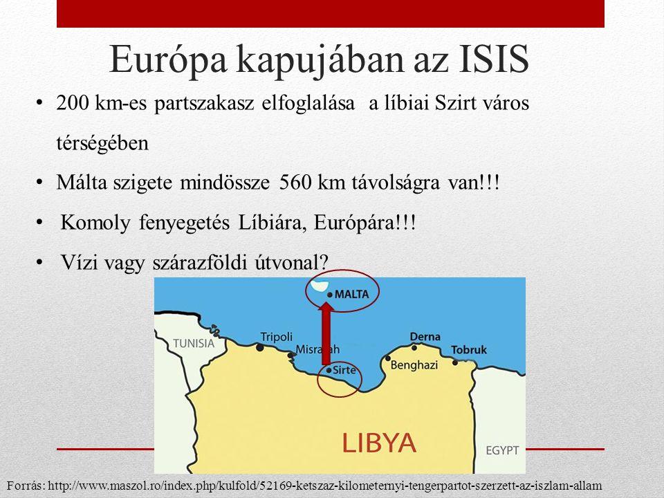 Európa kapujában az ISIS 200 km-es partszakasz elfoglalása a líbiai Szirt város térségében Málta szigete mindössze 560 km távolságra van!!.