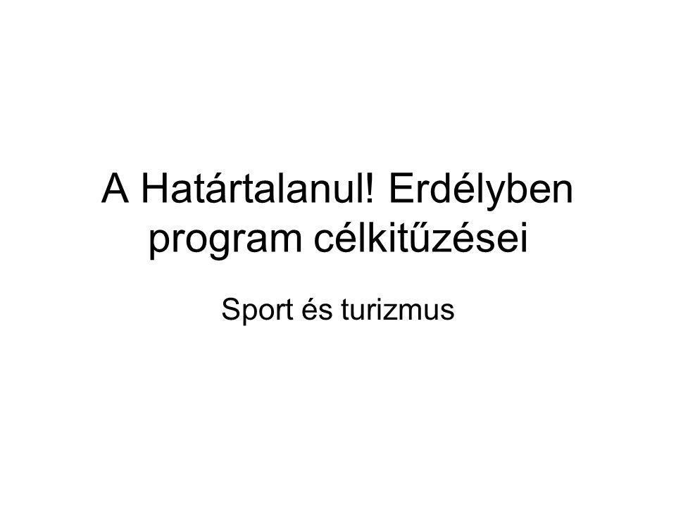 A Határtalanul! Erdélyben program célkitűzései Sport és turizmus