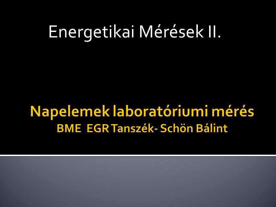 Energetikai Mérések II.